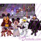 Jedi Mickey, Princes Leia, Ewoks, Darth Goofy & Stormtrooper Donald in front of the Box - Also notice the background of the Box with the character signatures and Star Tours Ride entrance picture © Dizdude.com