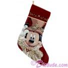 Disney Victorian Mickey Tapestry Christmas Stocking © Dizdude.com
