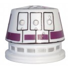 R5 White & Purple Astromech Droid Dome ~ Series 2 from Disney Star Wars Build-A-Droid Factory © Dizdude.com