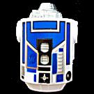 Blue and White Body Part ~ Disney Star Wars Astromech Build-A-Droid Factory © Dizdude.com