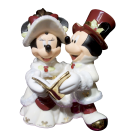 Disney Mickey & Minnie Christmas Caroling Ceramic  Figurine