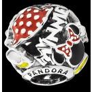 "Disney Pandora ""Minnie Mania"" Sterling Silver Charm - Disney World Parks Exclusive"