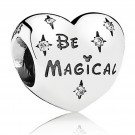 "Disney Pandora ""Be Magical"" Sterling Silver Charm with Cubic Zirconias"