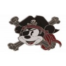 Disney Pirate Mickey Cross-Bones Pin © Dizdude.com