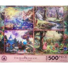 Disney World Princesses Four 500 Piece Thomas Kinkade Jigsaw Puzzles © Dizdude.com