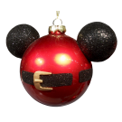 Disney Mickey Mouse Ears Santa Jacket Christmas Tree Ornament © Dizdude.com