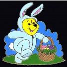 Walt Disney World - Easter Bunny Winnie the Pooh Limited Edition Pin Autographed by Disney Artist Jeff Ebersohl © Dizdude.com
