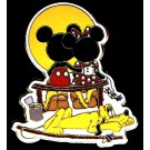 Norman Rockwell Recreation: Puppy Love with Mickey, Minnie Mouse & Pluto Pin Autographed by Disney Artist Linda Rogers © Dizdude.com