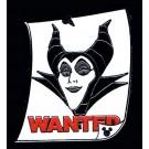 Walt Disney World Cast Lanyard Series 3 ~ Wanted Posters Maleficent Pin with Hidden Mickey © Dizdude.com