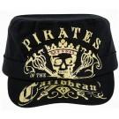 Disney's Pirates of the Caribbean: Dead Men Tell No Tales Broadcloth Cadet Hat With Gold Foil Print © Dizdude.com