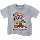 Vintage Disney Pirate Donald Duck I've Got A Short Fuse Toddler T-shirt (Tee, Tshirt or T shirt)