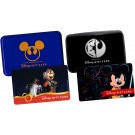 Set of 2 Disney Star Wars Weekends Gift Cards With Cases Limited Edition ~ 2014 REBEL RENDEZVOUS & 2015 Galactic Gathering © Dizdude.com