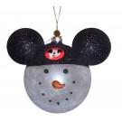 Disney Snowman Wearing Mickey Mouse Ears Christmas Tree Ornament © Dizdude.com