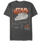 The Millennium Falcon Schematics Adult T-Shirt ~ SOLO A Star Wars Story