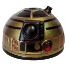 Gold & Black Astromech Droid Dome ~ Series 2 from Disney Star Wars Build-A-Droid Factory © Dizdude.com