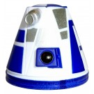 R4 White & Blue Astromech Droid Dome ~ Series 2 from Disney Star Wars Build-A-Droid Factory © Dizdude.com