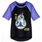 BB-8 Hi-Lo Raglan Youth T-Shirt (Tshirt, T shirt or Tee) Disney Star Wars: The Last Jedi © Dizdude.com