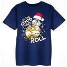 BB-8 Let The Good Times Roll Christmas Holiday Youth T-Shirt (Tshirt, T shirt or Tee) Disney Star Wars © Dizdude.com