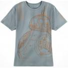 BB-8 Sketch Adult T-Shirt (Tshirt, T shirt or Tee) - Disney's Star Wars The Force Awakens  © Dizdude.com