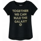 Disney Star Wars Gold Foil Darth Vader Quote: Together We Can Rule The Galaxy Youth T-shirt © Dizdude.com