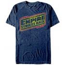 Star Wars Empire Strikes Back Distressed Title Logo Adult T-Shirt (Tshirt, T shirt or Tee) © Dizdude.com