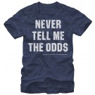 Star Wars The Empire Strikes Back: Han Solo - The Odds Adult T-Shirt (Tshirt, T shirt or Tee) © Dizdude.com