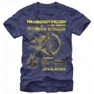 Star Wars Millennium Falcon Schematics Adult T-Shirt (Tshirt, T shirt or Tee) © Dizdude.com