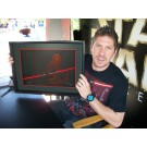 "Ray Park Holding ""Donald as Darth Maul"" After Autographing the back May 20th 2012 ~ © DIZDUDE.com"