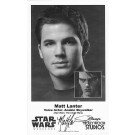 Matt Lanter the voice of Anakin Skywalker Presigned Official Star Wars Weekends 2014 Celebrity Collector Photo © Dizdude.com