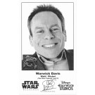 Warwick Davis who played The Ewok Wicket W. Warrick Presigned Official Star Wars Weekends 2014 Celebrity Collector Photo © Dizdude.com