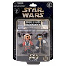 Star Wars X-Wing Pilot Mickey Mouse as Luke Skywalker and Donald Duck as Han Solo Star Tours Action Figure Set Individually Numbered ~ Disney Star Wars Weekends 2014 ~ Limited Edition 1980