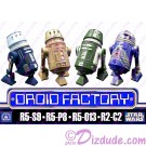 Star Wars The Clone Wars Set of 4 Astromech DROID FACTORY Series 2 Action Figures 3¾ Inch Multi Pack with R5-S9 R5-P8 R5-013 & R2-C2