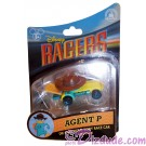 Agent P Disney Racer Die-Cast Metal Body Race Car 1/64 Scale © Dizdude.com