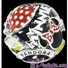 "Disney Pandora ""Minnie Mania"" Sterling Silver Charm - Disney World Parks Exclusive"