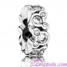 "Disney Pandora ""Mickey All Around"" Sterling Silver Spacer Charm with Cubic Zirconias"