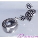 "Disney Pandora ""Mickey Sparkling Ear Hat"" Sterling Silver Charm with Black Crystals"
