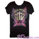 Pirate Couture with Gold Crown Woman's T-shirt (Tee, Tshirt or T shirt) ~ Disney Magic Kingdom