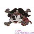 Disney Pirate Mickey Cross-Bones Pin © Dizdude.com