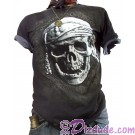 Disney's Pirates of the Caribbean Puffed 3D Printed Pirates Skull T-shirt (Tee, Tshirt or T shirt)