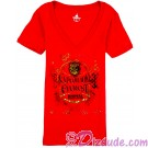 Expedition Everest V-Neck Red Adult T-Shirt (Tee, Tshirt or T shirt) ~ Disney Animal Kingdoms