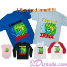I Survived Irma Fantasy T-shirt, Onesies, Hoodies, Tank Tops, Baseball Tees and more © Dizdude.com