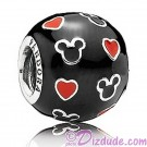"Disney Pandora ""Mickey And Hearts"" Sterling Silver Charm"