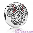 "Disney Pandora ""Minnie Pavé Clip"" Sterling Silver Charm with Cubic Zirconias"