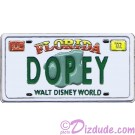 WDW Cast Lanyard Series 1 - Dopey License Plate Pin