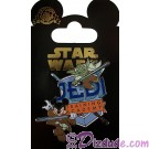 Disney Star Wars/ Star Tours Jedi Training Academy Pin Yoda And Jedi Mickey Mouse