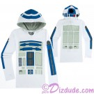 R2-D2 Long Sleeved Ladies Hoodie
