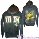 Yoda Sketch Hoodie Adult Printed Front and Back - Disney Star Wars © Dizdude.com