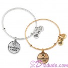 """I Love You - I Know"" Antiqued Rafaelian Gold or Silver Finished Star Wars Adjustable Charm Bangle - by Alex & Ani"
