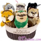 Star Wars Ewok Celebration Set of Six Plushes 9 Inch (23 cm) Limited Edition 1000 © Dizdude.com