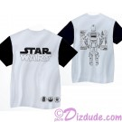 Disney Star Wars C-3PO Mesh Adult Shirt (T-Shirt, Tshirt, T shirt or Tee) Printed Front, Back and Sleeves © Dizdude.com
